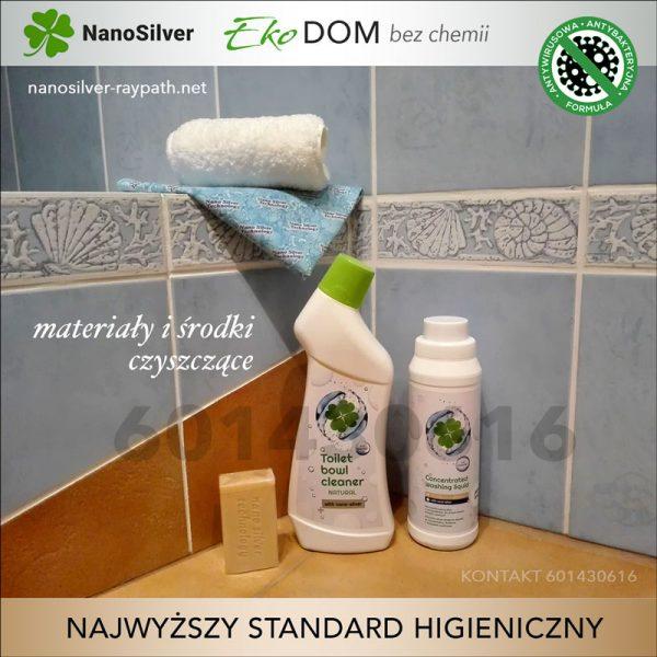 naturalne mydła i płyny z nanosrebrem do dezynfekcji raypath